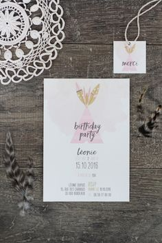 Boho Kid Birthday Invitation // Hëllø Blogzine www.hello-hello.fr