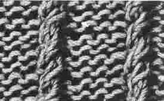Encyclopédie des points de tricot. LE POINT Cordes