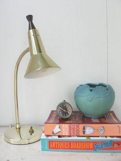 Mid Century Desk Lamp, Gooseneck 1960's