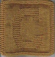 Free Knit Dishcloth Pattern: Monogram Letter – C