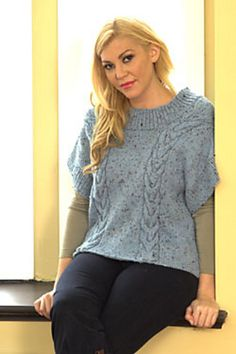 Ravelry: Boxy Cables Pullover pattern by Plymouth Yarn Design Studio