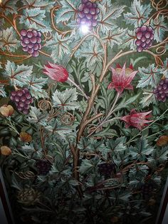 Embroidered wall hanging, William Morris Society. Kelmscott House
