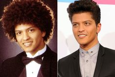 The Man in High School and the Man today. I know if I was eight years younger, lived in Hawaii and went to Bruno's school, I would've had the biggest crush on him. I am infatuated with his hair, his smile and his very essence. ♥