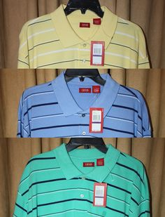 Men's Size 2X/2XL Golf/Polo Short Sleeve Striped Shirt by IZOD NEW