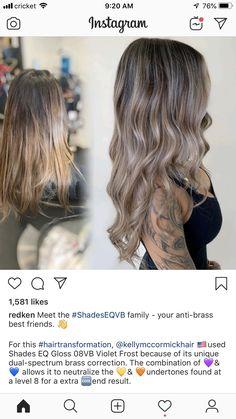 Dark Balayage, Balayage Hair, Hair Color Dark, Brown Hair Colors, Redken Hair Color, Redken Hair Products, Hello Hair, Redken Shades, Hair Color Formulas