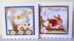 2 Easter Card Toppers by Margaret McCartney