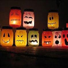 pot verre photophore bougie bricolage activité enfant halloween savoir et créer caen