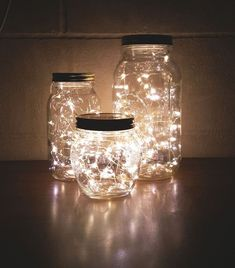 How to Make a DIY Glow Jar Learn how to make mason jar luminaries with o. - How to Make a DIY Glow Jar Learn how to make mason jar luminaries with our quick and easy # - Glow Jars, Cute Room Decor, Room Lights Decor, Lighting Ideas Bedroom, Dorm Lighting, Party Lighting, String Lights In The Bedroom, Dyi Bedroom Ideas, White Lights Decor