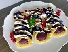 Naleśniki z kremowym musem jagodowym - Blog z apetytem Waffles, Pancakes, Food Cakes, Vegetable Pizza, Cake Recipes, Blog, Vegetables, Breakfast, Ethnic Recipes