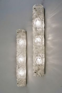 Carl Fagerlund Orrefors glass wall lights, 1970`s ca, Swedish in Vintage Wall Lights / Vintage Sconces from Roomscape
