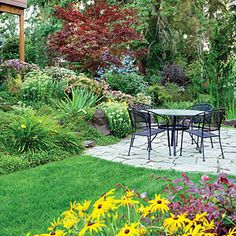 Colorful slope idea for our front yard!  4 solutions for a sloped yard-Sunset.com