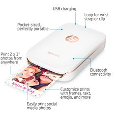 hp sprocket, mobile printers, compact printers, hp printers, printers for photo printing, sprocket