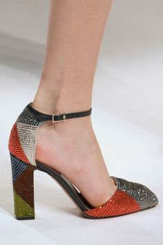 Crystal Bedazzled Harlequin Pattern Pumps at Valentino A/W 2014.