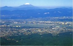 Ariel view of Yokota AFB and surrounding area with beautiful Fuji-san watching over all.