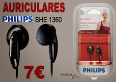 Digit@L Chip - Informática - Sonido: PHILLIPS BASS VENTS SHE1360 AURICULARES