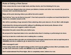 Dating a pole dancer