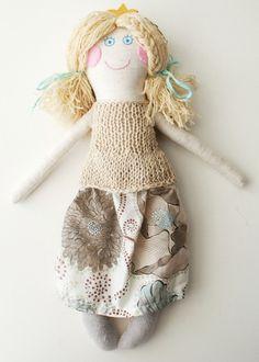 Rag doll  doll clothes  birthday presents  fabric by Tatadolls