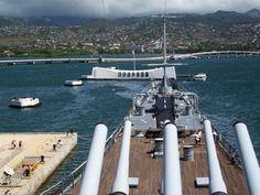 USS MISSOURI  On Guard At USS ARIZONA, Memorial Pearl Harbor