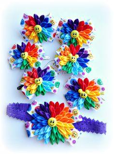 Одноклассники Ribbon Art, Ribbon Crafts, Ribbon Bows, Resin Flowers, Felt Flowers, Cloth Flowers, Fabric Flowers, Hair Ribbons, Hair Bows