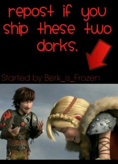 Yes, I ship these two dorks. XD #Hiccstrid