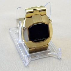 Vintage ChronoSonic 100 Mens LED Goldtone Watch, The Computer Watch, Circa 1970s, Case Made in Japan, Nice Octagonal Shape.