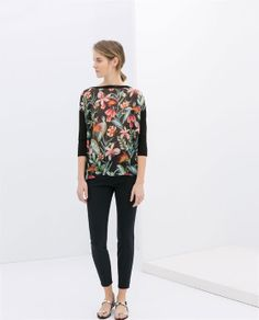 Image 1 of SWEATER WITH PRINTED FRONT from Zara