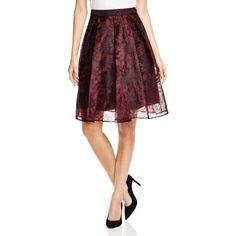 Aqua Pleated Lace Midi Skirt ($27) ❤ liked on Polyvore featuring skirts, mid-calf skirt, pleated skirt, red midi skirt, calf length skirts and knee length lace skirt