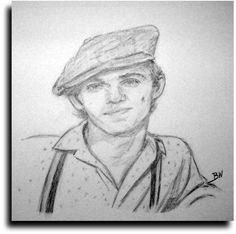 M A S H Original Pencil Drawing Hawkeye Pierce Alan Alda