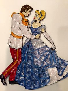 Paper Quilling: Cinderella and Prince Charming at by jgaCreations