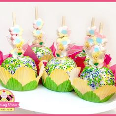 Carmel Apples - tinkerbell party