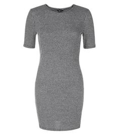 Teens. For classic daytime styles opt for this grey ribbed bodycon dress. Perfect with ankle boots and black tights for chillier days.- Ribbed texture- Rounded neckline- Simple short sleeves- Bodycon for a closely cut fit- Mini length