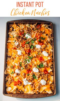 Our Instant Pot Chicken Nachos are a great starter meal for the Instant Pot. Learn how to make this easy Instant Pot freezer meal from fresh or from frozen. Chicken Nachos Recipe, Chicken Receipe, Instant Pot Dinner Recipes, Freezer Meals, Freezer Cooking, Chicken Freezer, Bulk Cooking, Frugal Meals, Cooking Tools