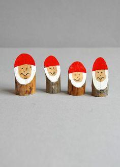 weihnachtsbaumschmuck basteln selber machen filz holz weihnachtsmann