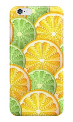 """""""Juicy lime and orange pattern"""" iPhone Wallets, Cases & Skins by Maria-So 