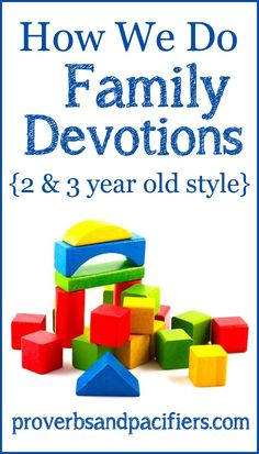 Family devotional ideas for toddlers! Super easy and fun for the kids.