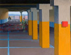 View Study for Supermarket Car Park II by Jeffrey Smart on artnet. Browse upcoming and past auction lots by Jeffrey Smart. Australian Painters, Australian Artists, Julia Gillard, Jeffrey Smart, Critique D'art, Magic Realism, Smart Art, A Level Art, Photorealism