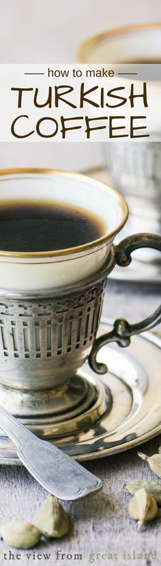 How to Make Turkish Coffee ~ the perfect cup of coffee might not be from Starbucks after all ~ this sensuous brew is full-bodied, fragrant, and utterly delicious. | beverage | Middle Eastern |