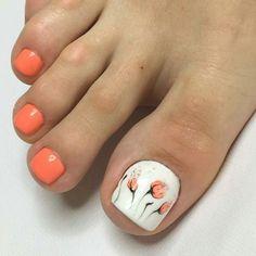 The Most Popular Nail Shapes – Page 2869448886 – NaiLovely Fingernail Designs, Diy Nail Designs, Toe Designs, Pretty Toe Nails, Cute Toe Nails, Pretty Toes, Nail Polish Art, Toe Nail Art, Acrylic Nails