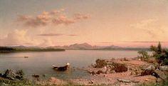 Hudson River School version of Lake George