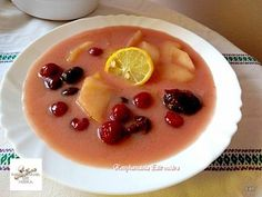 Fűszeres gyümölcsleves Recept képpel - Mindmegette.hu - Receptek Ale, Panna Cotta, Food And Drink, Soup, Pudding, Lunch, Cooking, Health, Ethnic Recipes