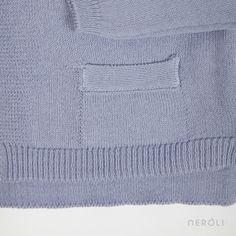 Chaqueta violeta de punto básica (unisex) de Búho. #boy #girl #jacket #fashion #NeroliByNagore #SS14 #Buhobcn