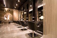 Hair Salon Interior Design | Interior Design: Luxe Concept Salon | Australian Design Review -- CHAIN ACCENT DIVIDERS