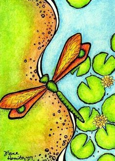 Over the Pond  ACEO Print by crookedlittlestudio on Etsy