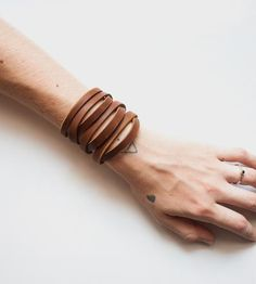 Olivia Leather Cuff Bracelet by Sissipahaw Leather Co. on Scoutmob Shoppe