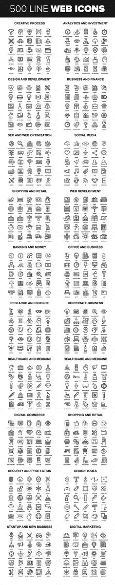 Line Web Icons. Download here: http://graphicriver.net/item/line-web-icons/15487860?ref=ksioks