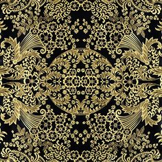 Amazon.com: Gold/Black Paradise Lace Oilcloth Fabric - By the yard