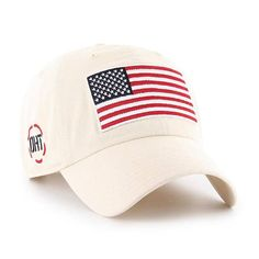 Operation Hat Trick Clean Up W  Side Embroidery Natural 47 Brand Adjustable  USA Flag Hat d7a9c081c2bb