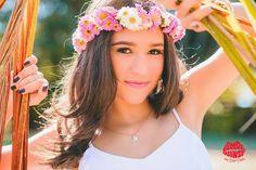 15 anos - fotografia de 15 anos - fotos de 15 anos - coroa de flores - 15th birthday #15anos #fotografiade15anos:
