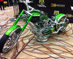811 custom motorcycle by Paul Jr. Designs. We took this picture at the CGA Excavation Safety Expo in Vegas (March 2012). It's known as the Damage Prevention Bike. #pauljr #pauljrdesigns #motorcycle #custom