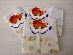 Kit de 3 fraldas bordadas para bebês 2 fraldas de boca 1 fralda de ombro Marca - Cremer - 100% algodão